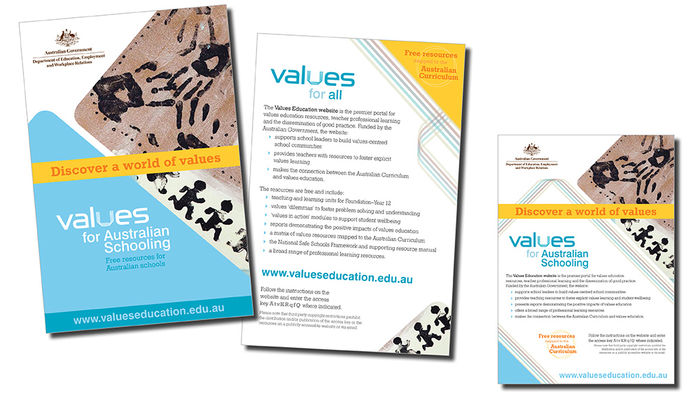 Values Education marketing design